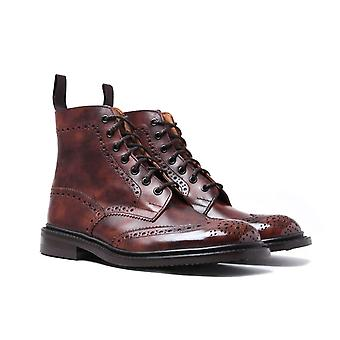 Tricker's Stow Dark Brown Museum Brogue Boots