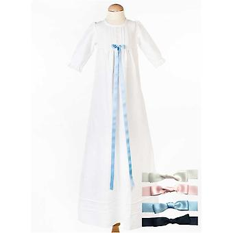 Christening Gown In Linen, Free Choice Of Bow, Grace Of Sweden