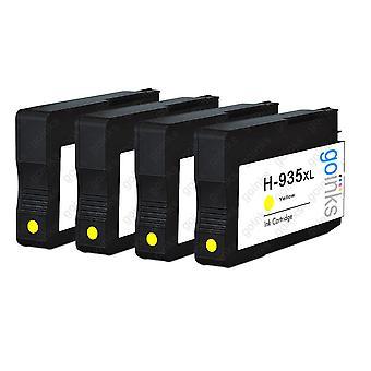 4 Gulkompatibla HP 935Y-bläckpatroner (HP935XL)
