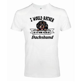 Dackel Kikande hund t-shirt - Lieber mit...