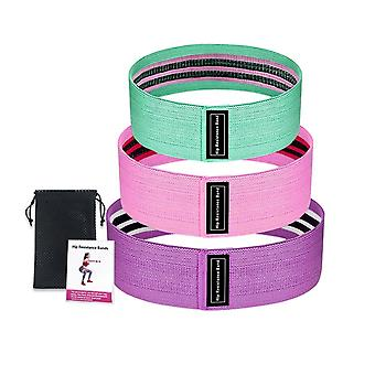 Resistance Exercise Equipment- 3 Piece Set Of Fitness Rubber Bands / Elastic Bands