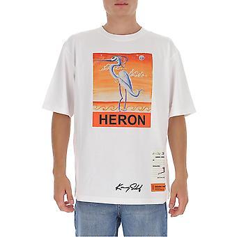 Heron Preston Hmaa019f20jer0150120 Men's White Cotton T-shirt