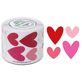 Doodlebug Design Hearts Sweet Rolls Mini Icon Tarrat (100kpl) (5081)