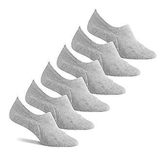 Essentials Women's Gray 6-Pack Cotton Sneaker Liner Socks, Grey, Shoe ...