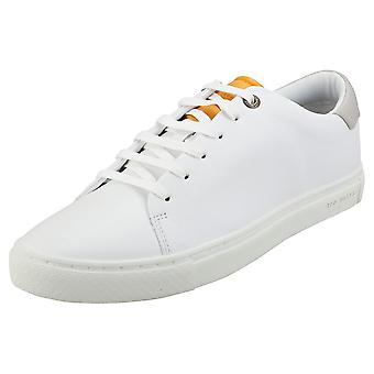 Ted Baker Leepow Mens Fashion Trainers in White Yellow