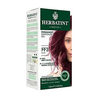 Permanent Hair Dye Gel FF3 Plum 150 ml