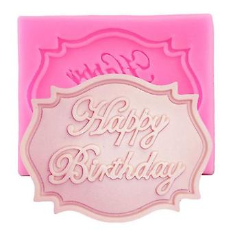 Happy Birthday Letter Form Silicone Mold