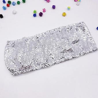 Fashion High Quality Sequin Chair Sashes - Wedding Chair Decoration Stretched