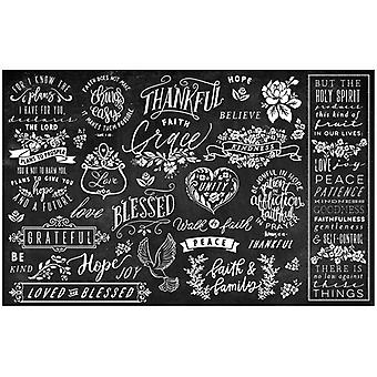 Re-Design com Prima Thankful & Blessed II 19x30 Inch Découpage Décor Tissue Paper