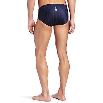 TYR Men's Fusion 2 Racer Swim Suit (Navy, 24 -Inch), Navy, Size 24 -Inch