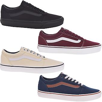 Vans Mens Ward Checkered Lace Up Low Top Casual Canvas Trainers Sneakers Shoes