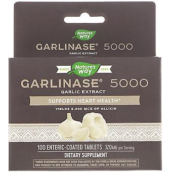 Nature's Way, Garlinase 5000, 320 mg , 100 Enteric-Coated Tablets