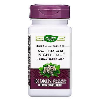 Natur's Way, Valerian nighttime, 100 tabletter
