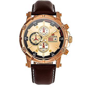 Hoogwaardig lichtgevend men's quartz horloge