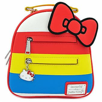 Loungefly Hello Kitty 45th Anniversary Stripes Convertible Mini Backpack