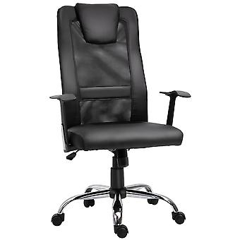 Vinsetto High Back Executive Mesh Office Chair Ergonomic Computer Seat 360 Degree Swivel Adjustable Height Black