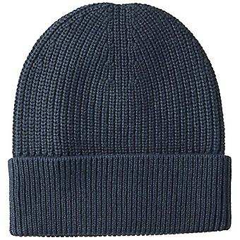 Goodthreads Men's Soft Cotton Washed Beanie, Solid, Solid Navy, Size One Size