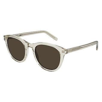 Saint Laurent SL 401 004 Yellow/Brown Sunglasses