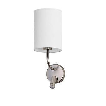 Forlight Romi - LED væglys med læselys satin 175lm 3000K