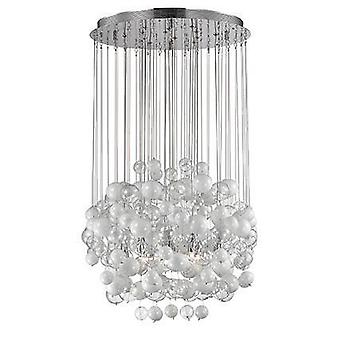 Ideal Lux Bollicine - 14 Bolhas de Vidro Soprado Leve Pendente De Cluster Branco, G9