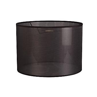 30 Cm Round Sheer Weave Fabric  Lampshade Black