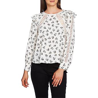 1.State | Floral Lace-Inset Top