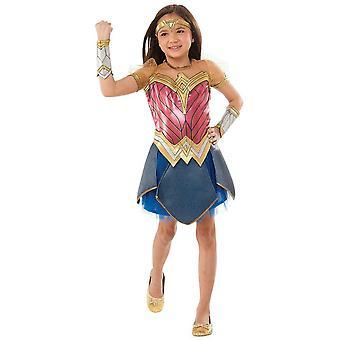Wonder Woman Premium DC Comics Superhero Book Week Child Girls Costume 3-5