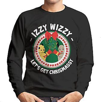 Sodet jul Izzy Wizzy Lets Få Chrismassy Mænd's Sweatshirt