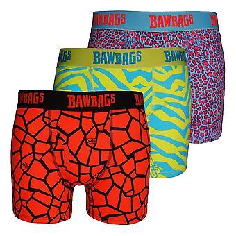 Bawbags Originals Techno Safari 3 Pack Boxers - Multi