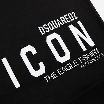 Dsquared2 Eagle Flag T-Shirt Black