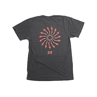 Lost Wheel Of Life Vintage Dye Short Sleeve T-Shirt in Vintage Black