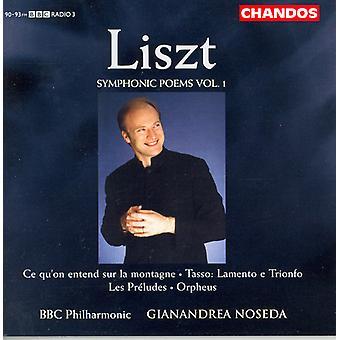F. Liszt - Liszt: Symfonische Gedichten, Vol. 1 [CD] De invoer van de V.S.