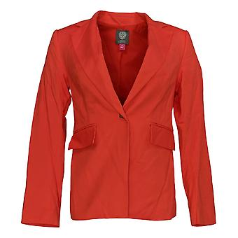 Vince Camuto Women's Blazer Lace-Up Back Doubleweave One Button Red A347532