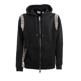 Burberry 8034510a1189 Men's Black Cotton Sweatshirt