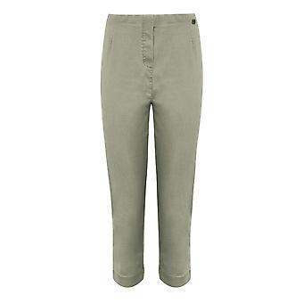PENNY PLAIN Sage Twill Cropped Trousers