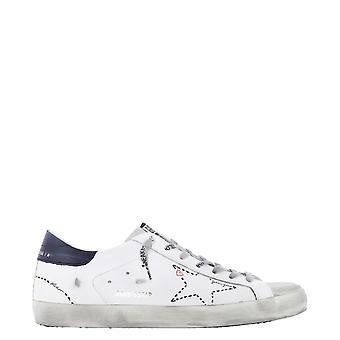 Golden Goose Gmf00101f00012410278 Hombres's zapatillas de cuero blanco