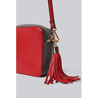 Louche Womens Daisy Camera Bag With Tassel Red