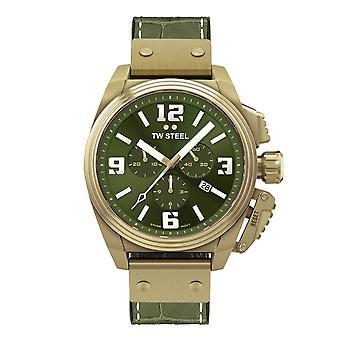 TW Stål TW1015 Kantine Grøn Dial Chronograph Armbåndsur