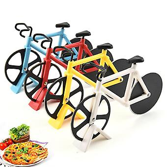 Pizza Cutter Knives Bicycle Pizza Cutter Wheel Stainless Steel Plastic Bike Roller Pizza Chopper Slicer Kitchen Gadget