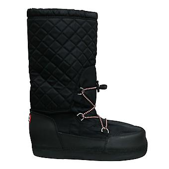 Hunter Original Snow Quilted Womens Boots Side Zip Black WFT2012WWR BLK