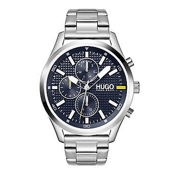 HUGO 1530163 Chase Silver & Navy Blue Men's Watch