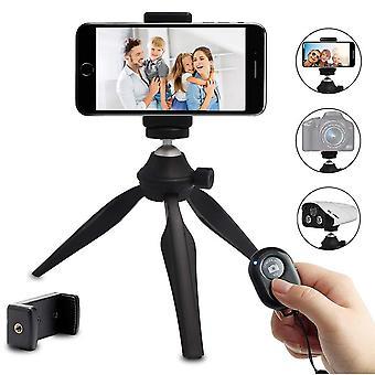 Mini phone tripod, linkcool lightweight tabletop tripod for iphone/samsung/cellphone/camera/dslr com