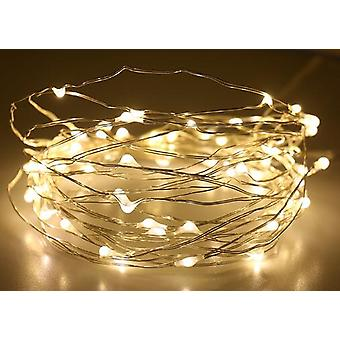 Led Outdoor String Fairy Garland Battery Power Copper Wire Lights