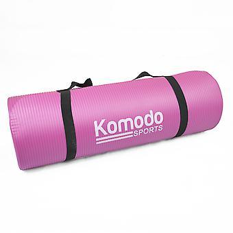 15mm Yoga Exercise Mat - Pink