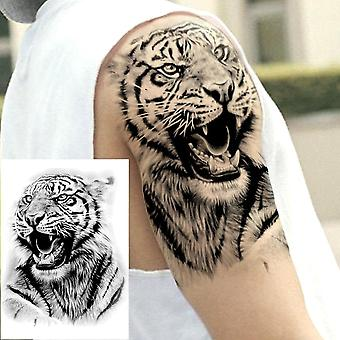 Temporary Tattoo Tribal Mighty Lion Warrior Waterproof Flash Tattoo Sticke