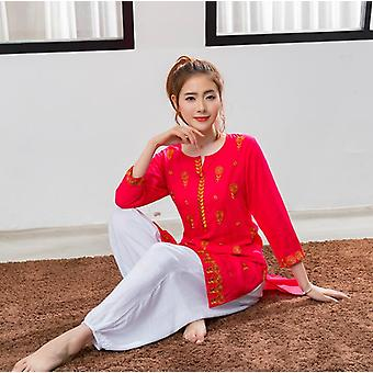 India Traditional Woman Kurtas Yoga Costume