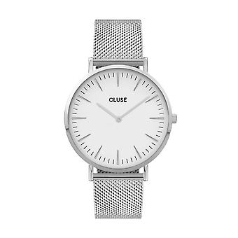 Cluse Unisex La Behème Silver Circle Quartz Fashion Watch CW0101201002