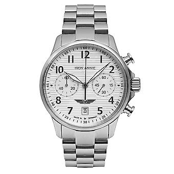 Iron Annie 5876M-1 Wellblech Silver Tone Dial With Chronograph Wristwatch