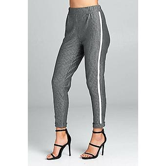 High Waist Striped Pants