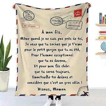 Letter Printed Quilts Air Mail 3d Print Keep Warm Sofa Child Blanket